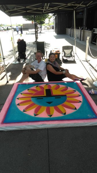 Chalk, Art, Westgate, Glendale, Arizona, live art, local